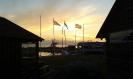 Päikeseloojang Koguva sadamas